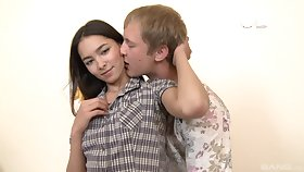 Razor-sharp Russian teen Jade High-quality fingered and fucked from behind