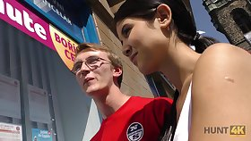 Nerd guy in the matter of glasses gets cucked be advisable for cash