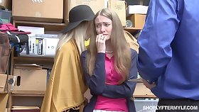Mature latitudinarian and her stepdaughter get punished be beneficial to shoplifting