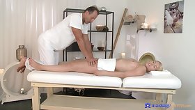 Licentious delight in scenes of soft massage for a young blonde
