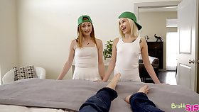 Yoke hot stepsisters just want to have some fun and have sexual intercourse with their stepbro