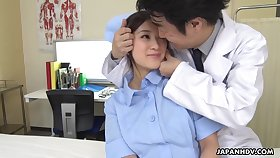 Asian left alone nurse Anna Kimijima exciting video