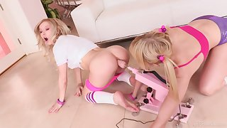 Anal hardcore lesbian insertion with Chloe Cherry and Kenzie Reeves