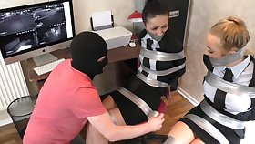 Two Whores Tied Up In Ducktape In Bondage Video