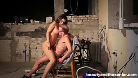 Bizarre elderly perv loves to have coitus with younger girls like Anina Silk
