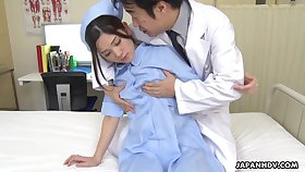 Spoilt and hot Japanese nurse Anna Kimijima is into riding cock on top